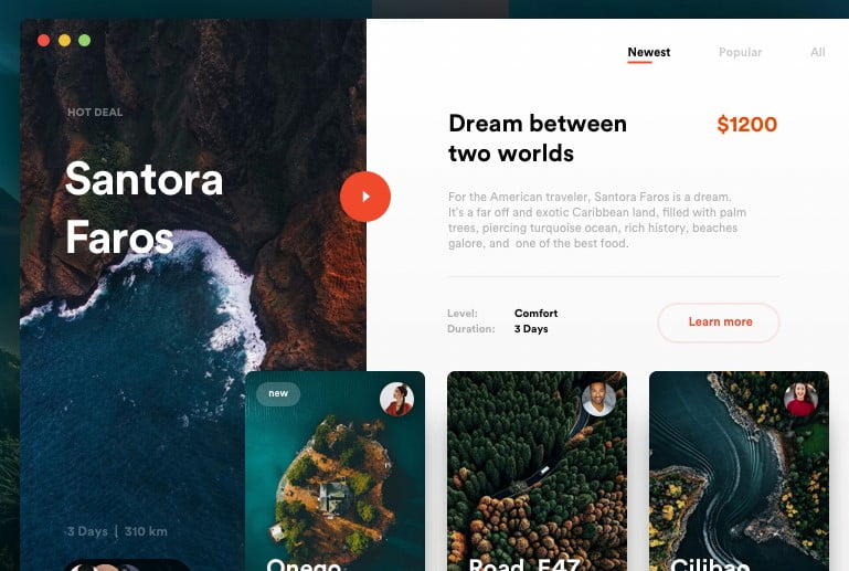 Perfect-Journey - 63+ BEST FREE Grid Web UI Design IDEA [year]