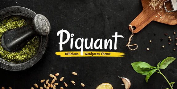 Piquant - 35+ AWESOME Food & Drink WordPress Theme [year]