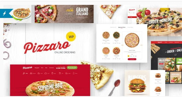 Pizzaro - 35+ AWESOME Food & Drink WordPress Theme [year]