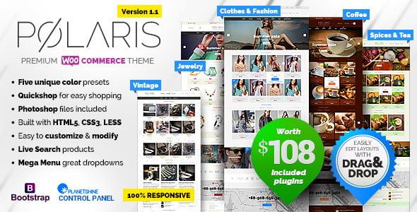 Polaris-1 - 40+ Coffee & Tea Website WordPress Themes [year]