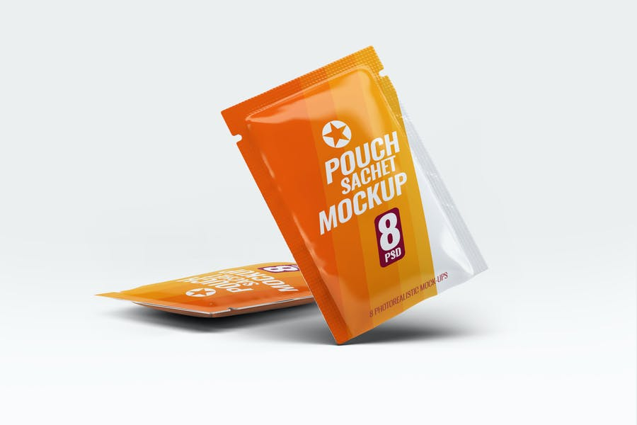 Pouch-Sachet - 48+ BEST Web & Graphic Designers PSD Mockup Templates [year]