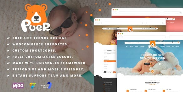 Puer - 35+ COOL Toy and Game Store WordPress Themes [year]