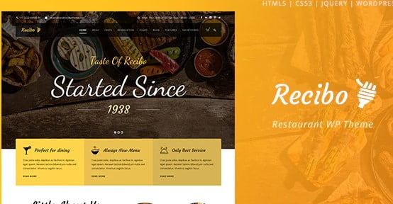 Recibo - 35+ AWESOME Food & Drink WordPress Theme [year]
