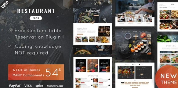 Restaurant-Food - 35+ AWESOME Food & Drink WordPress Theme [year]