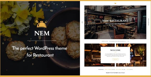 Restaurant-WordPress - 35+ AWESOME Food & Drink WordPress Theme [year]