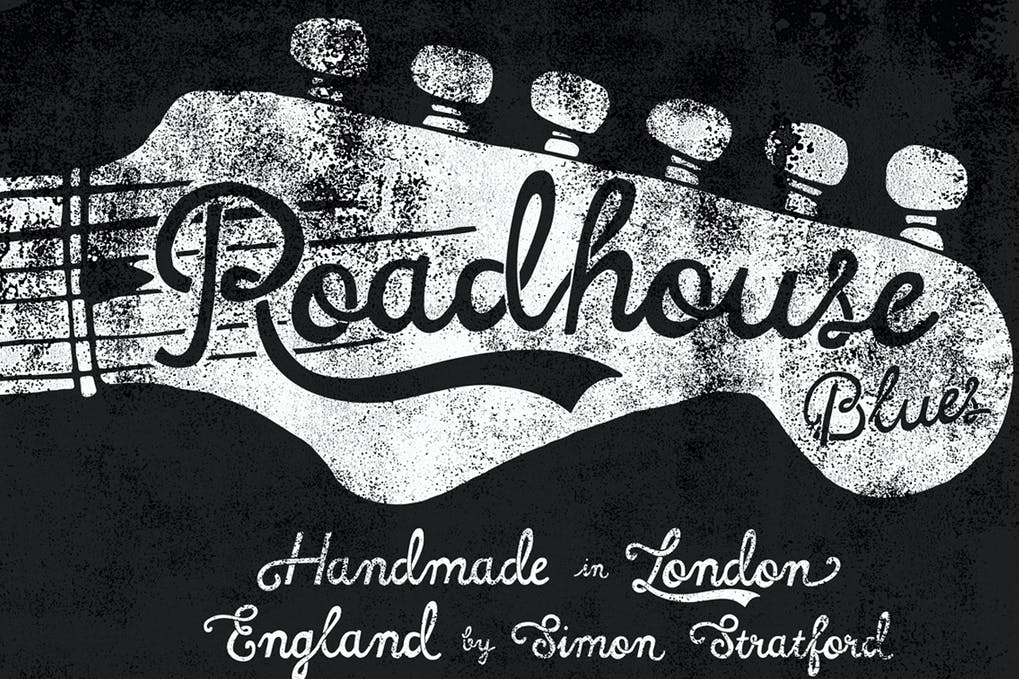 Roadhouse - 38+ COOL Ornate Vintage & Retro Fonts [year]
