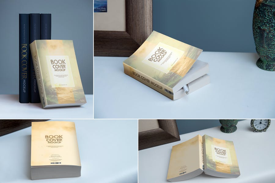Softcover-Book - 48+ BEST Web & Graphic Designers PSD Mockup Templates [year]