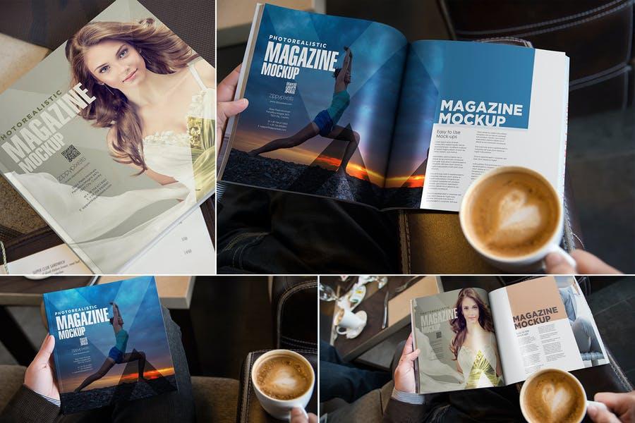 Square-Magazine - 48+ BEST Web & Graphic Designers PSD Mockup Templates [year]