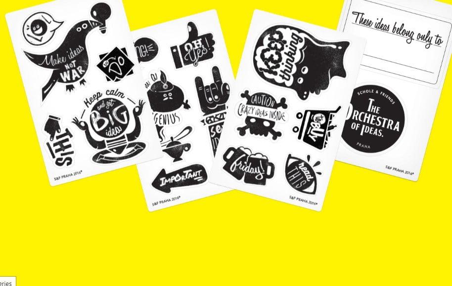 Stick-your-ideas-1 - 33+ FREE Typographic Sticker Designs IDEA [year]