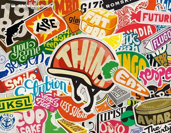 Sticker-Typography - 33+ FREE Typographic Sticker Designs IDEA [year]