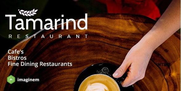 Tamarind-Restaurant - 40+ Coffee & Tea Website WordPress Themes [year]