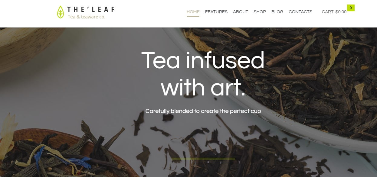 TheLeaf-1 - 33+ BEST Coffee, Tea & Bakery WordPress Themes [year]