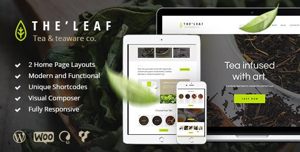 TheLeaf-2 - 40+ Coffee & Tea Website WordPress Themes [year]