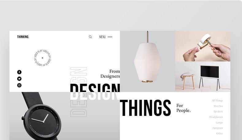Thinking - 63+ BEST FREE Grid Web UI Design IDEA [year]