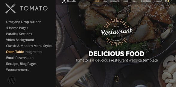 Tomato - 35+ AWESOME Food & Drink WordPress Theme [year]