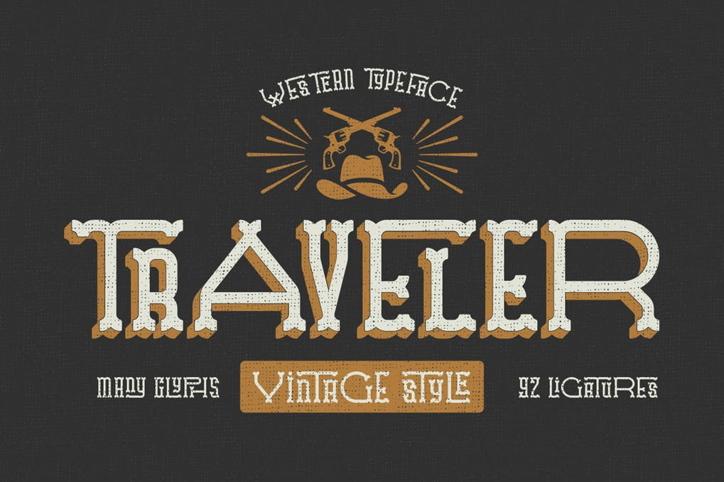 Traveler - 38+ COOL Ornate Vintage & Retro Fonts [year]