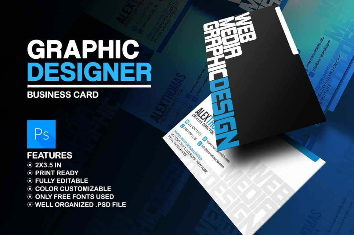 Typographic-Business-Cards - 53+ FREE Typographic Business Cards IDEA [year]