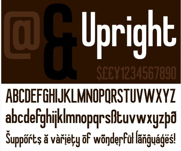 Upright - 38+ COOL Ornate Vintage & Retro Fonts [year]