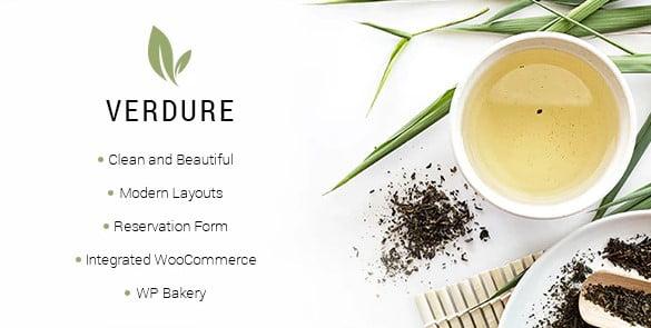 Verdure - 40+ Coffee & Tea Website WordPress Themes [year]