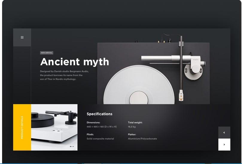 Vinyl - 63+ BEST FREE Grid Web UI Design IDEA [year]