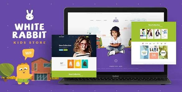 White-Rabbit - 35+ COOL Toy and Game Store WordPress Themes [year]