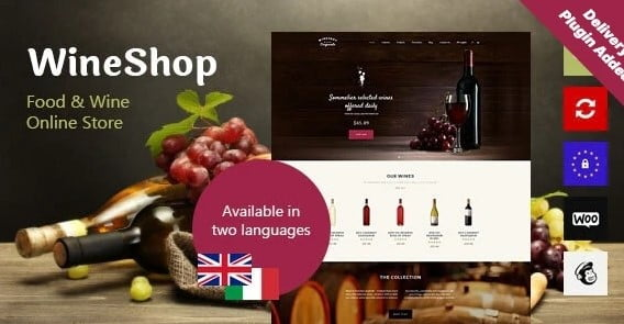WineShop - 35+ AWESOME Food & Drink WordPress Theme [year]