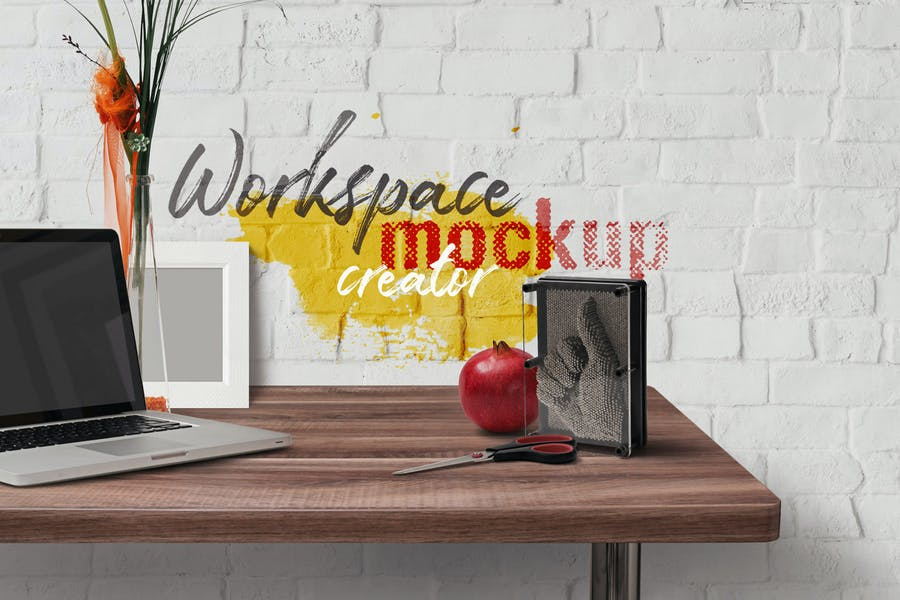 Workspace-Mockup - 48+ BEST Web & Graphic Designers PSD Mockup Templates [year]