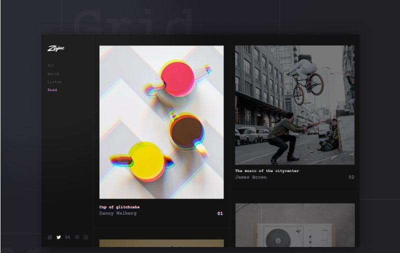 Zajno-1 - 63+ BEST FREE Grid Web UI Design IDEA [year]