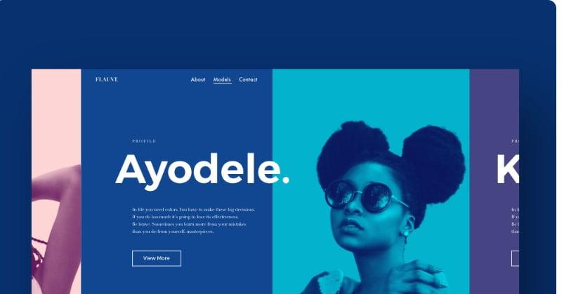 modelling-website-1 - 63+ BEST FREE Grid Web UI Design IDEA [year]