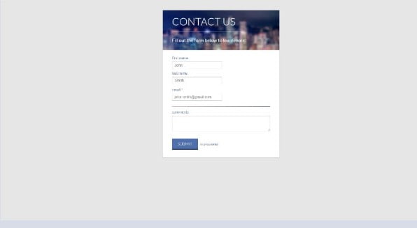 nick-haskell - 39+ FREE CSS Contact Form Design IDEA [year]