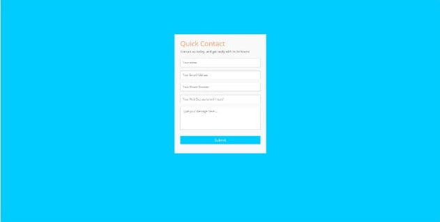 ssbalakumar - 39+ FREE CSS Contact Form Design IDEA [year]