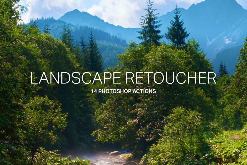 14-Landscape-Retouching - 50+ BEST Photo Editing Photoshop Actions [year]