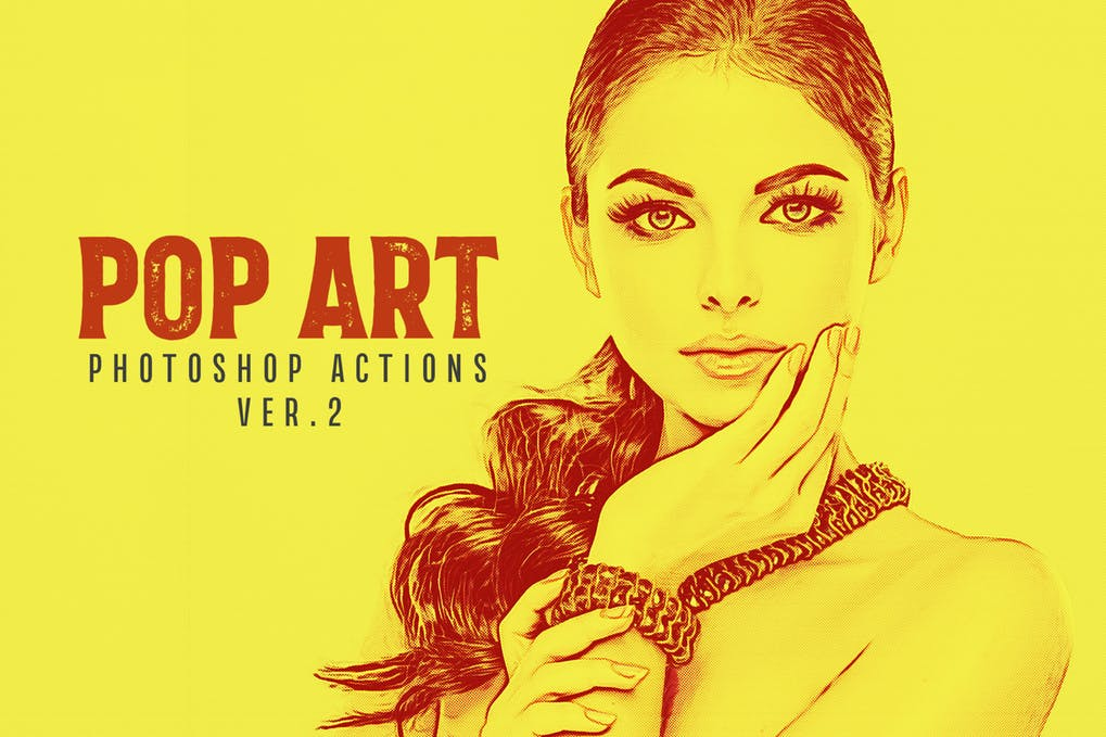 20-Pop-Art-Photoshop - 50+ BEST Photo Editing Photoshop Actions [year]