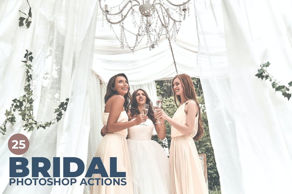 25-Bridal-Photoshop-Actions - 50+ BEST Photo Editing Photoshop Actions [year]
