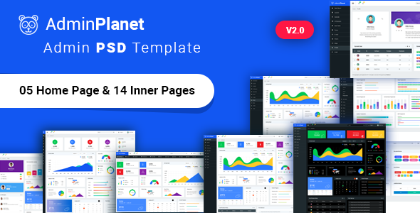 Admin-Planet - 38+ BEST Dashboard PSD & Sketch Templates [year]