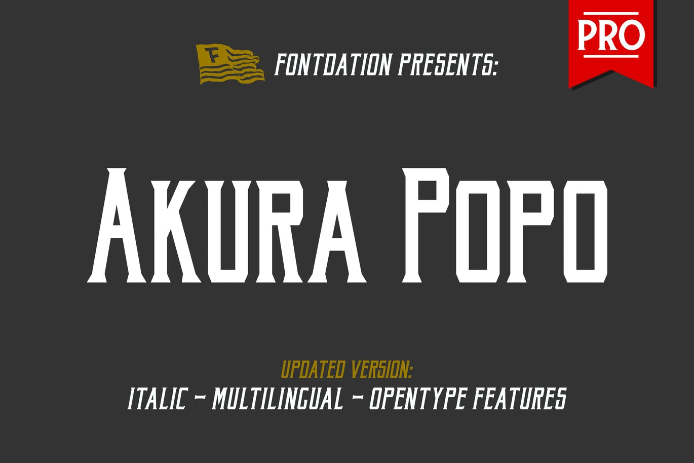 Akura-Popo-Pro - 50+ BEST Typography Logo Fonts [year]