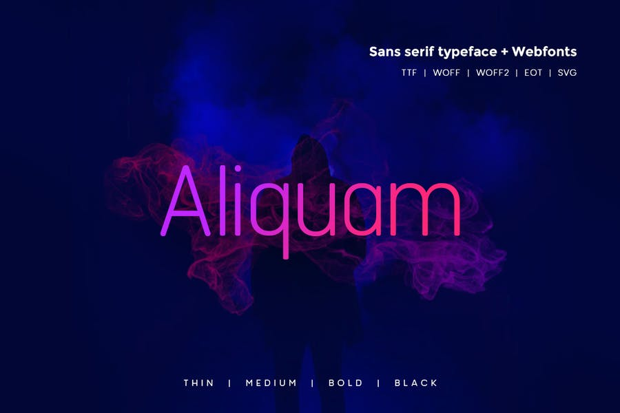 Aliquam - 38+ COOL Opentype SVG Fonts [year]