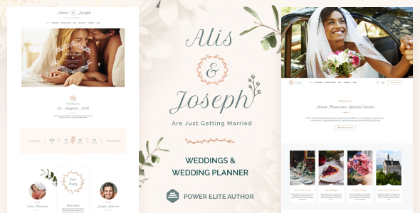 Alis - 35+ GREAT Wedding Invitation WordPress Themes [year]