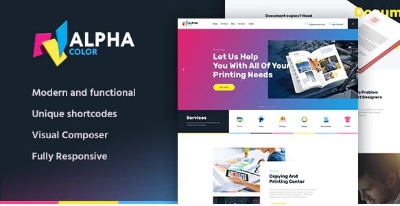 AlphaColor-1 - 35+ TOP Color Schemes WordPress Theme [year]