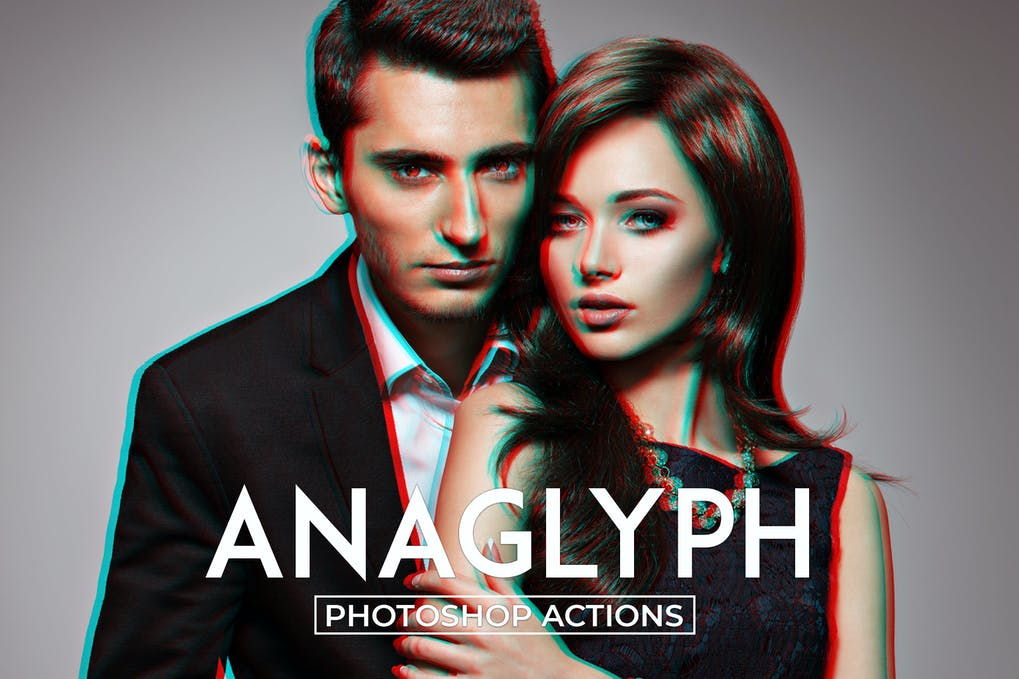 Anaglyph-Photoshop-Actions - 50+ BEST Photo Editing Photoshop Actions [year]