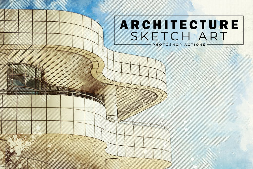 Architecture-Sketch - 50+ BEST Photo Editing Photoshop Actions [year]