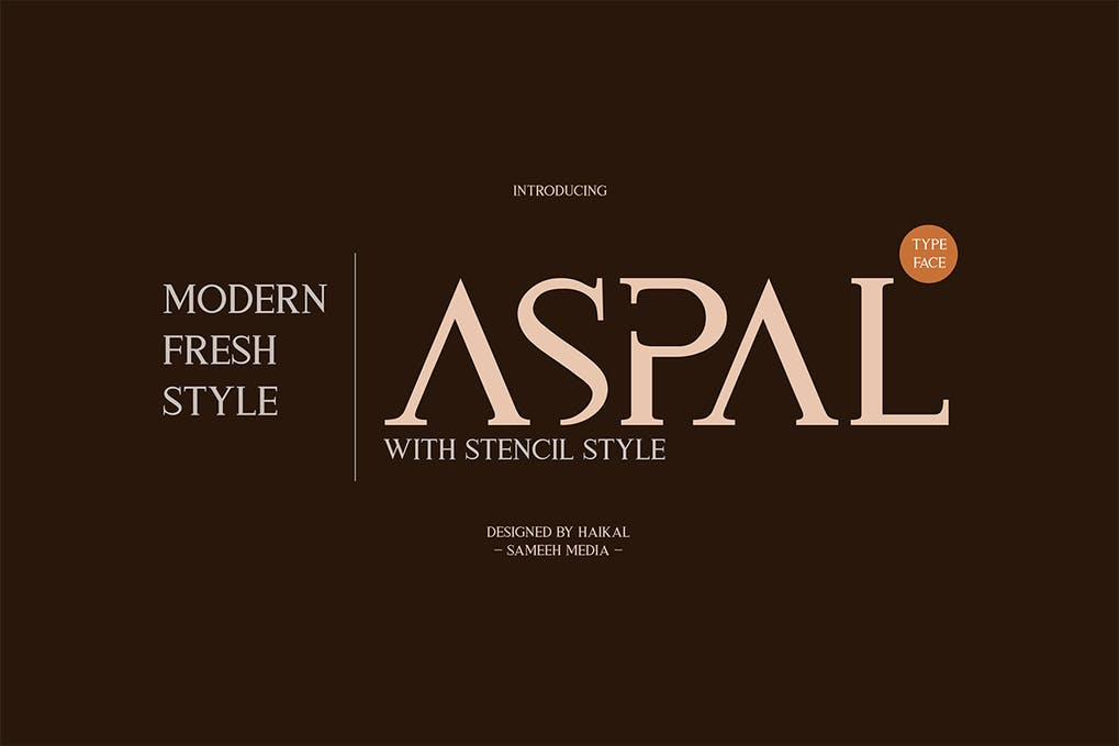 Aspal-Typeface-Font - 50+ BEST Typography Logo Fonts [year]