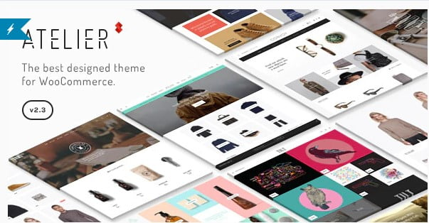 Atelier - 53+ Pretty Ecommerce WordPress Themes [year]