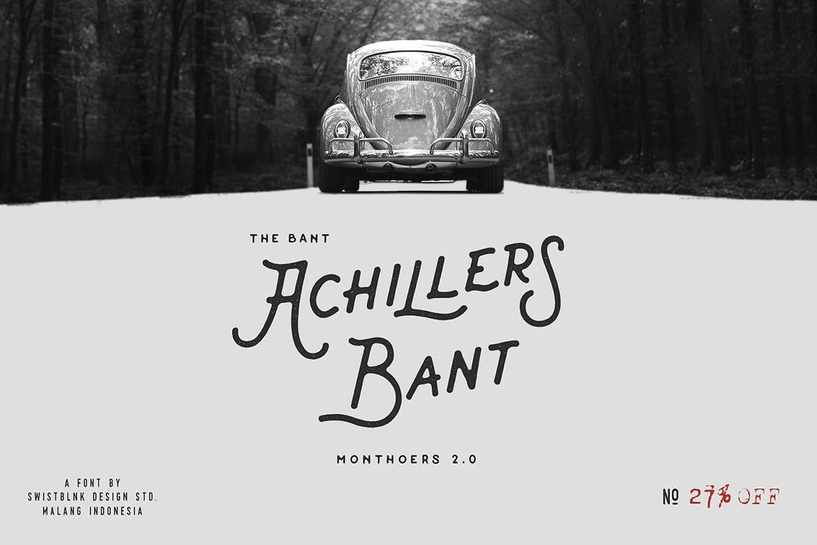 Bant-Achillers - 50+ BEST Typography Logo Fonts [year]