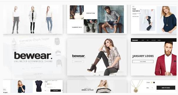 Bewear - 53+ Pretty Ecommerce WordPress Themes [year]