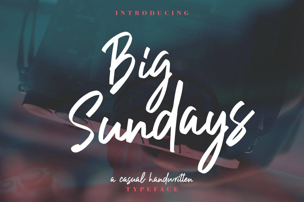 Big-Sundays - 50+ BEST Typography Logo Fonts [year]