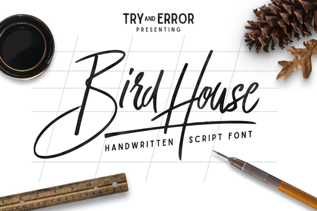 Bird-House-Script - 50+ BEST Typography Logo Fonts [year]