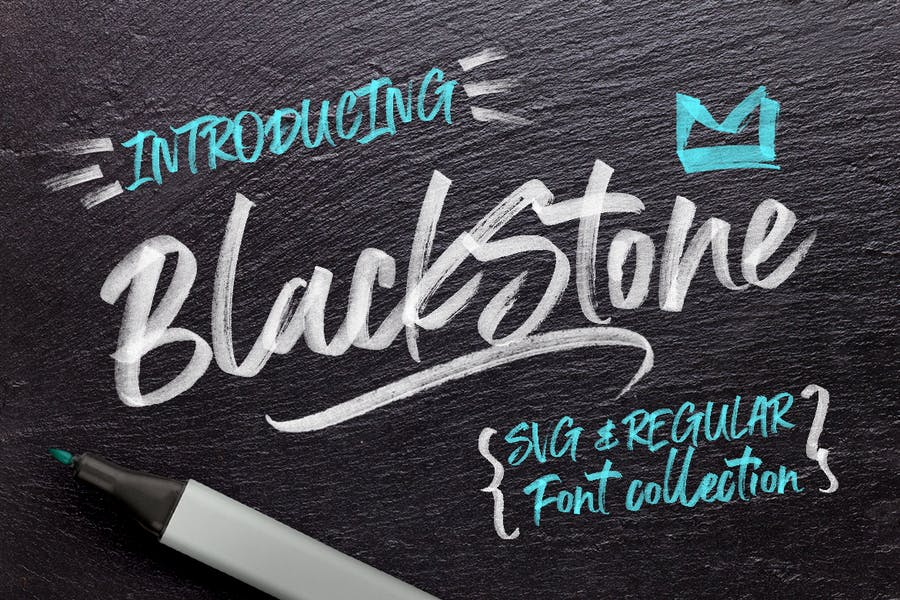 Black-Stone-Marker - 38+ COOL Opentype SVG Fonts [year]