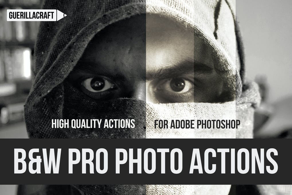 Black-and-white-professional - 50+ BEST Photo Editing Photoshop Actions [year]