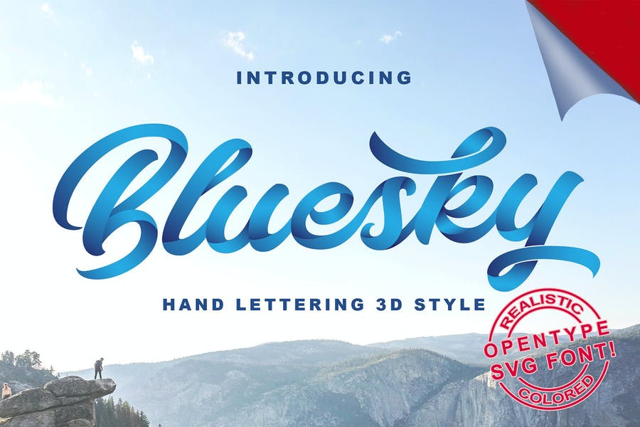 Bluesky-SVG-Font - 38+ COOL Opentype SVG Fonts [year]